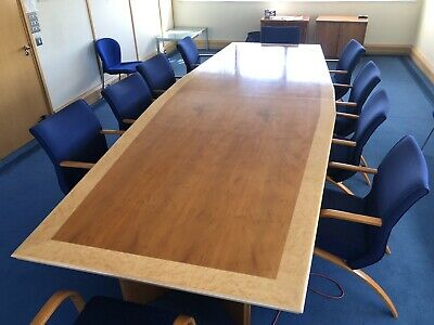 Boardroom Exective Table and Chairs 10 Person