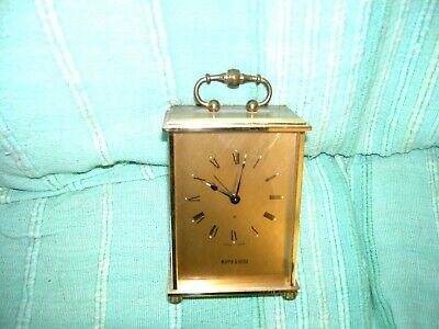 Brass cased 8 day Mappin & Webb Carriage Clock