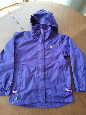 Purple Age 9-10  Girls Karrimor Coat - good Condition