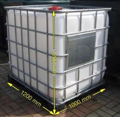 1000 Ltr IBC TANK Clean Water Koi Fish Animal Horse Drinking FREE DELIVERY £115