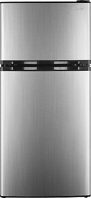 Insignia- 4.3 Cu. Ft. Top-Freezer Refrigerator - Stainless steel