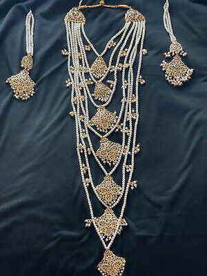 Brand New Multi Coloured Indian Necklace And Earring Set