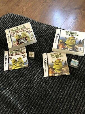 DS Shrek Game X 2 Bundle Nintendo DS Boxed Game Good Condition + Manuals