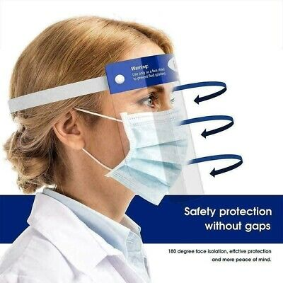 2 PCS Safety Full Face Shield Clear Reusable Washable Protection Cover Face Mask