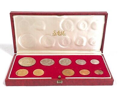 1976 South Africa 10 Coin Proof Set Including Gold Coins in Original Box SAM