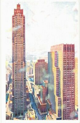 New York City Van Der Hope Afternoon Rockefeller Center RCA MINT 1960s