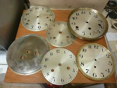 Lot Useful Old Bracket-Mantle Clock Dials -- (M)