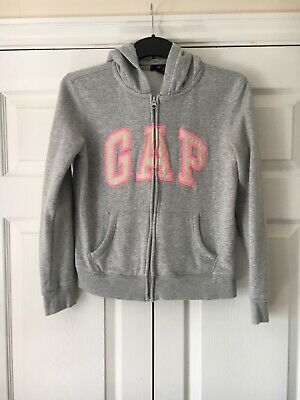 Girls Gap Zip-Through grey hoodie age 13 years