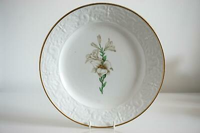 Antique Porcelain Botanical Plate - Lilies - Attributed To Spode - c.1820