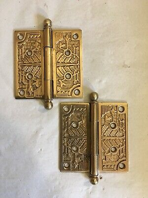 Lot #394 Cast Iron Victorian Hinges Vintage Antique Hardware