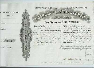 share certificate - 1866 Charles Laffitte & Co Ltd