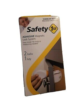 Safety 1st Adhesive Magnetic Lock System 2 Locks 1 Key