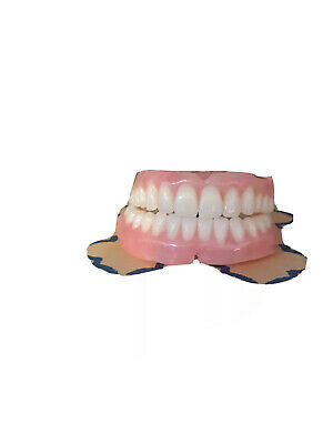 Full set top bottom false teeth ~ matching upper lower ~