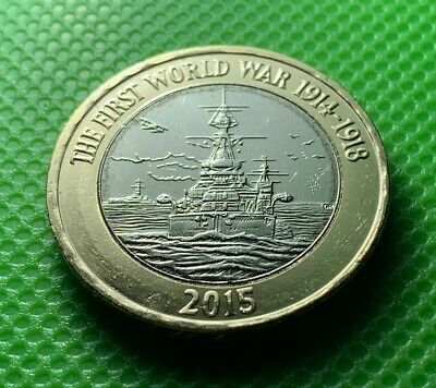 UNC 2 Pound Coin First World War Royal Navy Boat Ship 2015 HMS Belfast £2 Two