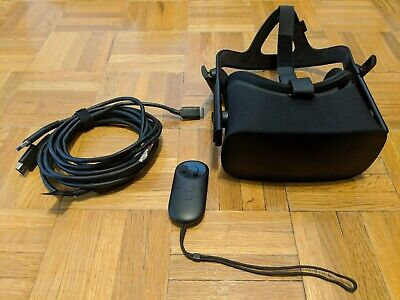 Oculus Rift CV1 Headset w/ Earphones and Remote Only. Cord Defective