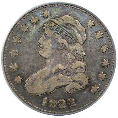 1822 Bust Quarter B-1 PCGS VF-25 CAC Great Eye Appeal!!