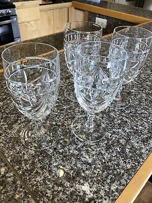 Set of 4 Waterford Crystal Overture Iced Tea / Water / Wine / Beverage Glasses