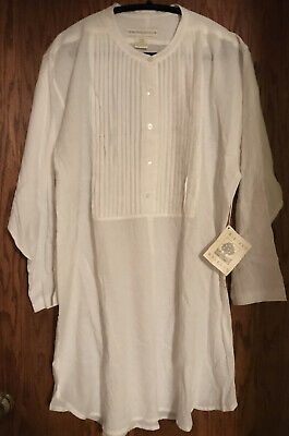 Crabtree And Evelyn 100% Cotton Womens Lingerie Night Shirt - Large NWT