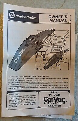 Black & Decker Car Vac Plus Automotive 12V Vacuum Cleaner 1984
