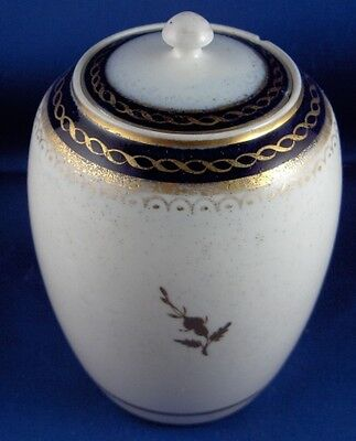Antique 18thC Caughley Porcelain Salopian Tea Caddy Jar English England Teedose