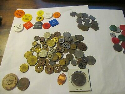 Huge Lot Of Transit Tokens;Tax Tokens ;Parking Tokens ; Lot # 3