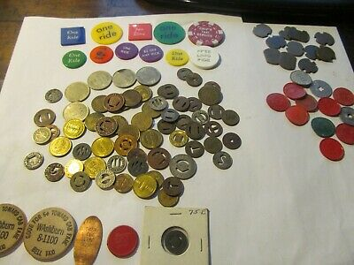 Huge Lot Of Transit Tokens;Tax Tokens, & Parking Tokens ; Lot # 4