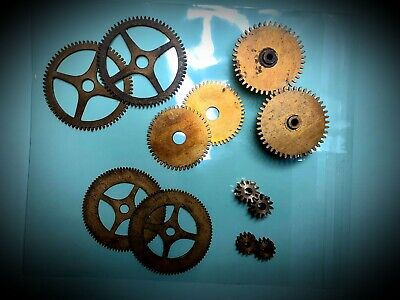 Clock parts, Cogs & Gears for use in Steampunk Outfits, Cosplay and Clock Repair