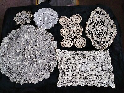 Job lot of 8 Vintage doilies crochet
