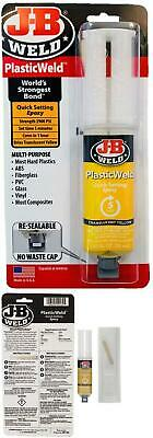 J-B Weld 50132 Plasticweld Quick-Setting Epoxy Syringe -  Translucent Yellow - 2