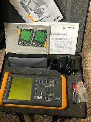 Philips  50Mhz Scopemeter PM93 charger scope leads manuals