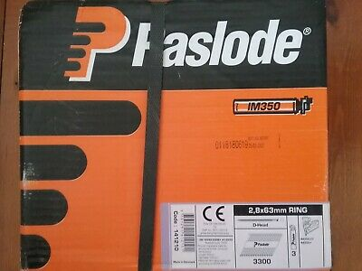 Genuine Paslode Im350 Galv Plus 3300 Ring Nails & 3 Gas Fuel Cells Pack