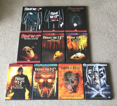 Friday The 13th Complete Collection 1-10 - ULTRA RARE R1 DVD - UNCUT VERSIONS