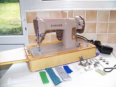 The Famous Singer 185K Heavy Duty S/S Sewing Machine,Case/Key,Manual,Serviced