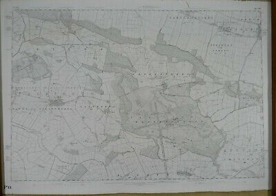 Large 1873 OS 6 inches to a mile Map of Yorkshire - Castle Howard Y123