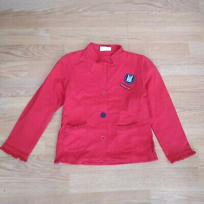 gorgeous red Coccodrillo jacket 4-5 years 110 cm - high quality cotton