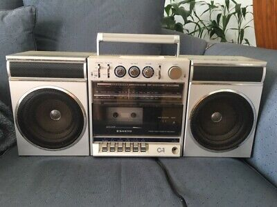 Vintage SANYO C1 Radio Cassette Recorder Player Boombox Getto Blaster. Model C1