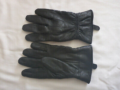 Ladies Very Soft & Malleable Black 40g 3M Thinsulate Leather Gloves Size Medium