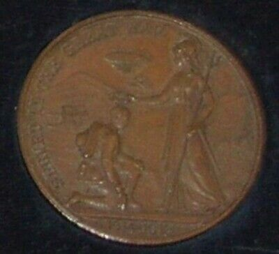 WWI World War 1 Bronze Coin Medal Presented By Citizens Of Lincoln Aug 30th 1919