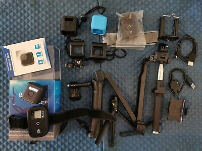 GoPro Hero 5 Session camera with remote controller and lot of accessories