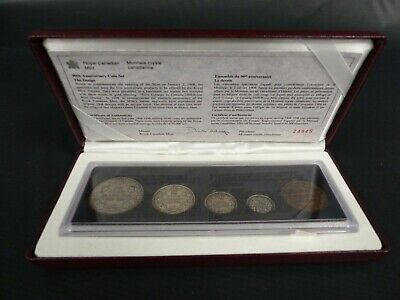1998 Canada Full Set 925 Sterling Coin 90Th Anniversary Set