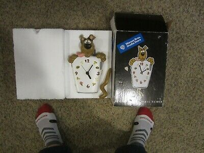 Scooby Doo clock in box Warner Brothers Studio store scarce item