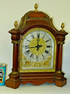 Antique SLAVE ELECTRICAL bracket clock WALNUT and ORMOLU Dutch style BOARDROOM