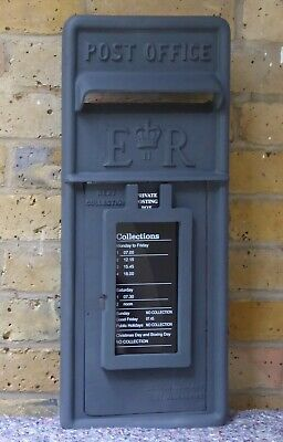 Post Office. Genuine. Cast Iron. Post Box Front. Carron. Grey. Royal Mail.