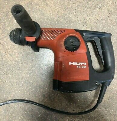 HILTI TE 30 CORDED ROTARY HAMMER DRILL TE30 SDS-PLUS 115V USED w/ BITS FREE SHIP