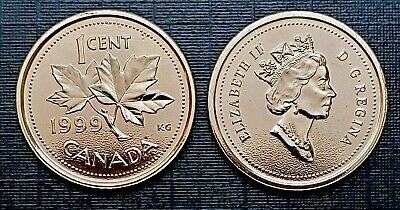 Canada 1999 Proof Like Gem UNC Small Cent Penny!!