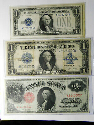 3 $1 Notes (1)Series of 1917 Large Note (1) Large Note 1923 (1) Small Note1928
