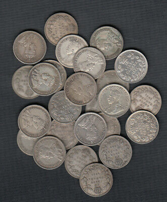 (1911-36) Canada Silver 10 Cents - Lot Of 25