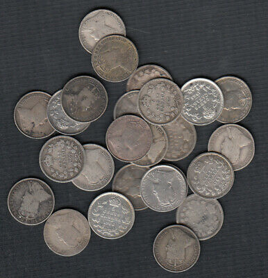 (1902-10) Canada Silver 5 Cents - Lot Of 25