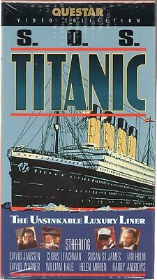 S.O.S. TITANIC (vhs) *NEW* deleted title of a made-for-TV movie docu-drama style