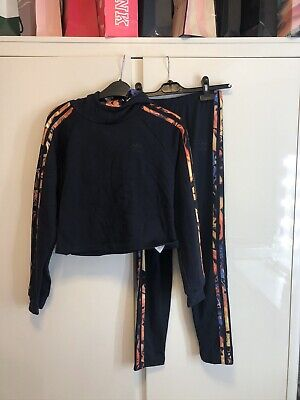 Girls Adidas Leggings And Hoodie Tracksuit Both Size 12-13 Years